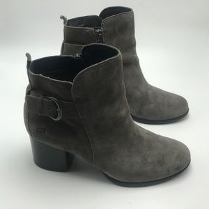 Born Gillian Gray Suede Leather Boots Size 9